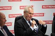 Prezident Zeman v olomoucké firmě Nutrend