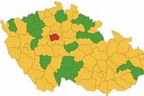 Na covidovém semaforu ČR jsou všechny okresy Olomouckého kraje oranžové, kromě Přerovska. 25. září 2020