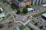 Křížení Zikova - Schweitzerova ulice - současný stav