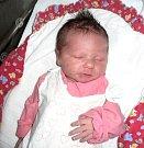 Sofie Mikulcová, Hlásnice u Šternberka, narozena 27. prosince ve Šternberku, míra 48 cm, váha 3170 g