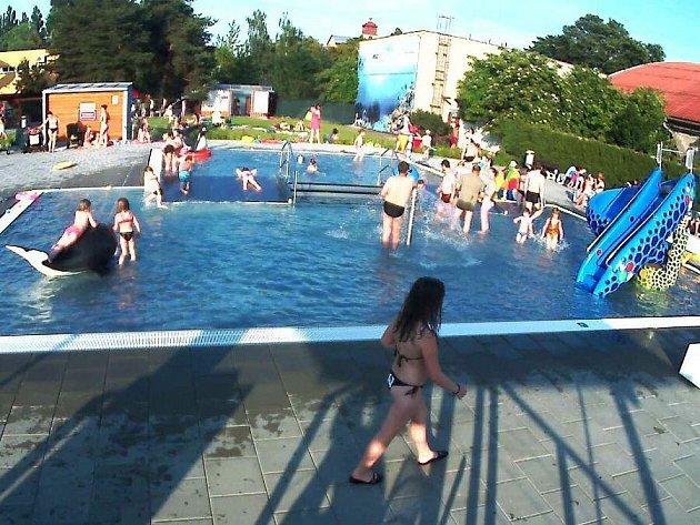 Záběr z jedné z webových kamer na Plaveckém stadionu v Olomouci