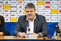 Sportovní ředitel Sigmy Olomouc Ladislav Minář na předsezónní tiskové konferenci.