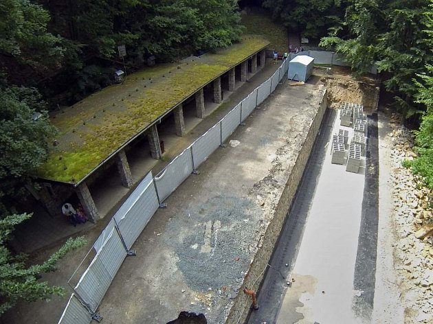 Velká přestavba správní budovy Javoříčských jeskyní