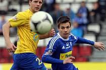 Sigma Olomouc (v modrém) v semifinále poháru proti Teplicím