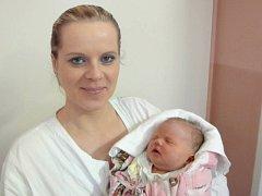 Sára Judlová, Lipník nad Bečvou, narozena 27. října v Olomouci, míra 50 cm, váha 3350 g.