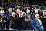 Zlínští fanoušci na zápase Evropské ligy Zlín vs. Kodaň na Andrově stadionu v Olomouci