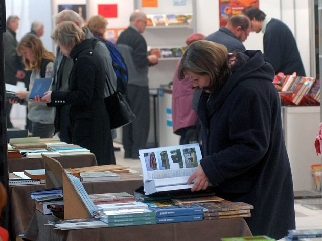Veletrh Libri na olomouckém výstavišti.