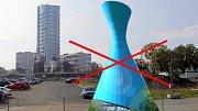 Plánovaná věž Spiritualia se nakonec v kampusu Moravské vysoké školy u třídy Kosmonautů v Olomouci stavět nebude