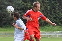 FK Šternberk (v červeném) vs. FC Kralice na Hané