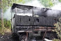 Požár včelína u Bělkovic-Lašťan