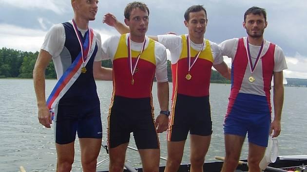 Olomoucký veslař Miroslav Vraštil (vlevo).