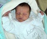 Karel Pospíšil, Šternberk, narozen 29. září ve Šternberku, míra 47 cm, váha 2960 g