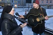 Palachův týden: protikomunistická demonstrace na olomouckém Horním náměstí