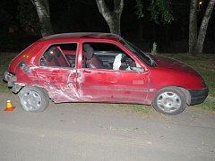 Havárie opilého řidiče citroenu v Dlouhé Loučce