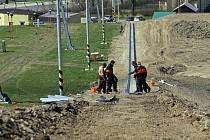 Stavba nové bobové dráhy v Hlubočkách