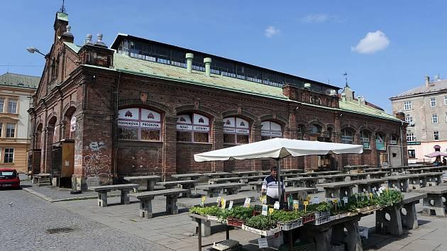 Historická budova olomoucké tržnice a tržiště