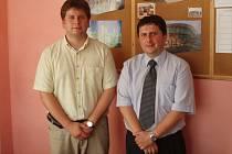 Bratři Martin a Lukáš Kuchaříkové ve své firmě.