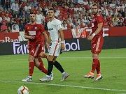 Sevilla FC - Sigma Olomouc (v červeném)