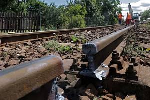 Rekonstrukce železniční přes Jeseníky. Ilustrační foto