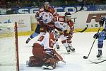 Hokejisté Olomouce (v bílém) porazili Kladno 4:0.