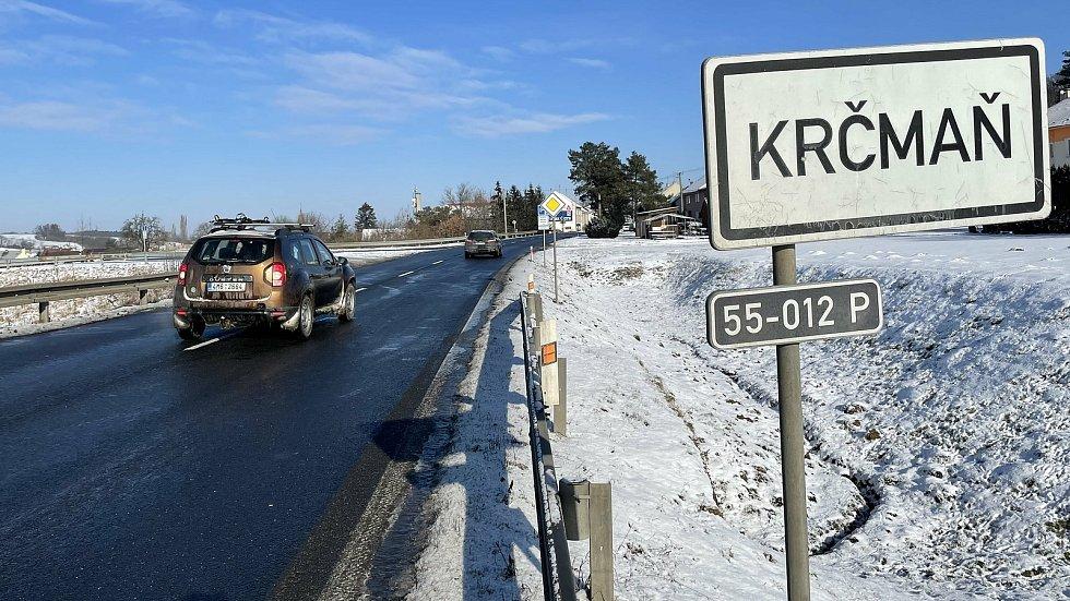 Krčmaní na hlavním tahu Olomouc - Přerov denně projede téměř 20 tisíc aut