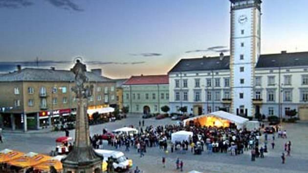 Náměstí v Litovli.
