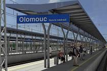 Vizualizace proměny nástupiště olomouckého nádraží