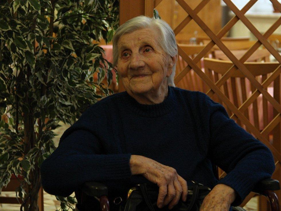 Nejstarší obyvatelka Olomouce a Olomouckého kraje Marta Musilová oslavila v pondělí 24. října 104 let