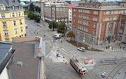 Opravená křižovatka náměstí Hrdinů - Legionářská v centru Olomouce