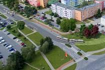 Vizualizace tramvajové trati po ulici Zikova