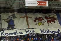 Fanoušci brněnských hokejistů na utkání v Olomouci.