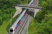 Vizualizace nového nadjezdu nad tratí v Černovíře
