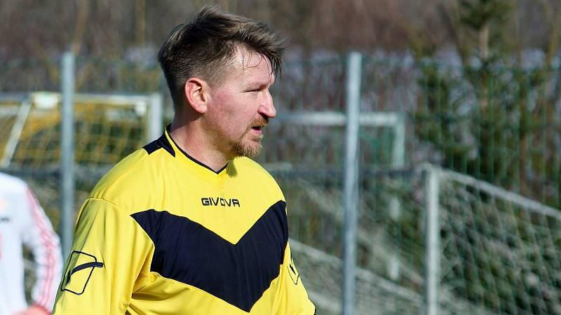 Marek Heinz v dresu divizních Všechovic v zimní přípravě.