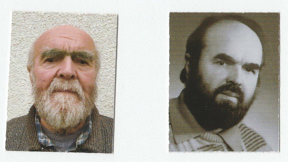 Karel Černý z Hlinska ve 46 letech (vpravo) a v 81 letech po hospitalizaci s covidem
