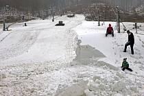 Ski areál Hrubá Voda upravuje sjezdovku na první víkendový provoz