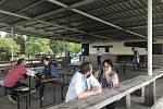 Restaurace Terasa na olomouckých Poděbradech. 20. května 2020