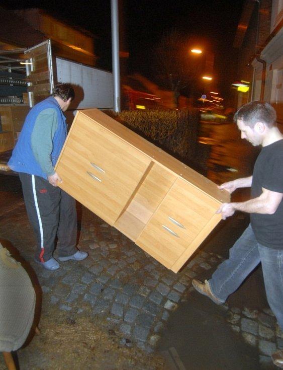 31. března 2006. Evakuace v Olomouci, Lazce