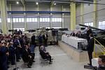Návštěva prezidenta Zemana ve společnosti EXCALIBUR ARMY ve Šternberku