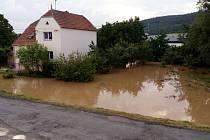 Bouřka zatopila 19.6. 2019 i Stařechovice, obec nedaleko Velkého Kosíře