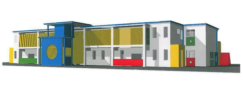 Vizualizace nové mateřské školy na Světlově ve Šternberku ve