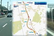 Dálnice D55 povede obchvatem kolem Krčmaně, kterou nyní prochází hlavní tah mezi Olomoucí a Přerovem