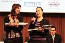 Vítězky kategorie Zemědělci pro svůj region a pro své zákazníky. První cenu si odnesly Eliška Gibalová a Adéla Krutilová z Obchodní akademie a jazykové školy s právem SJZ Přerov