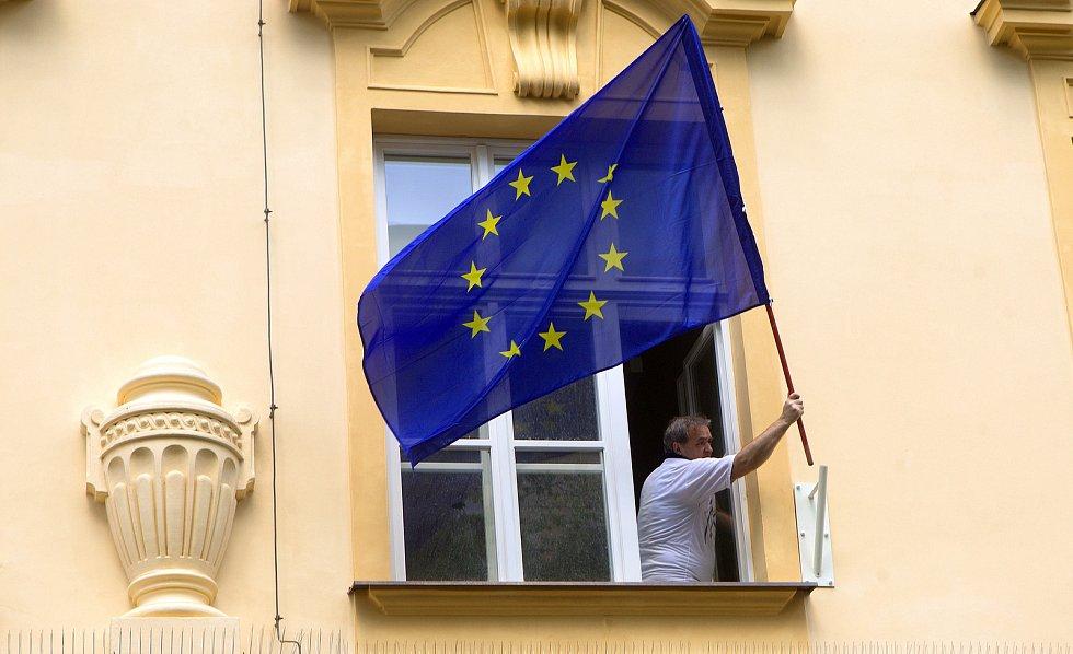 Eurovolby 2019: volební okrsek číslo 3 v Olomouci Na hradě