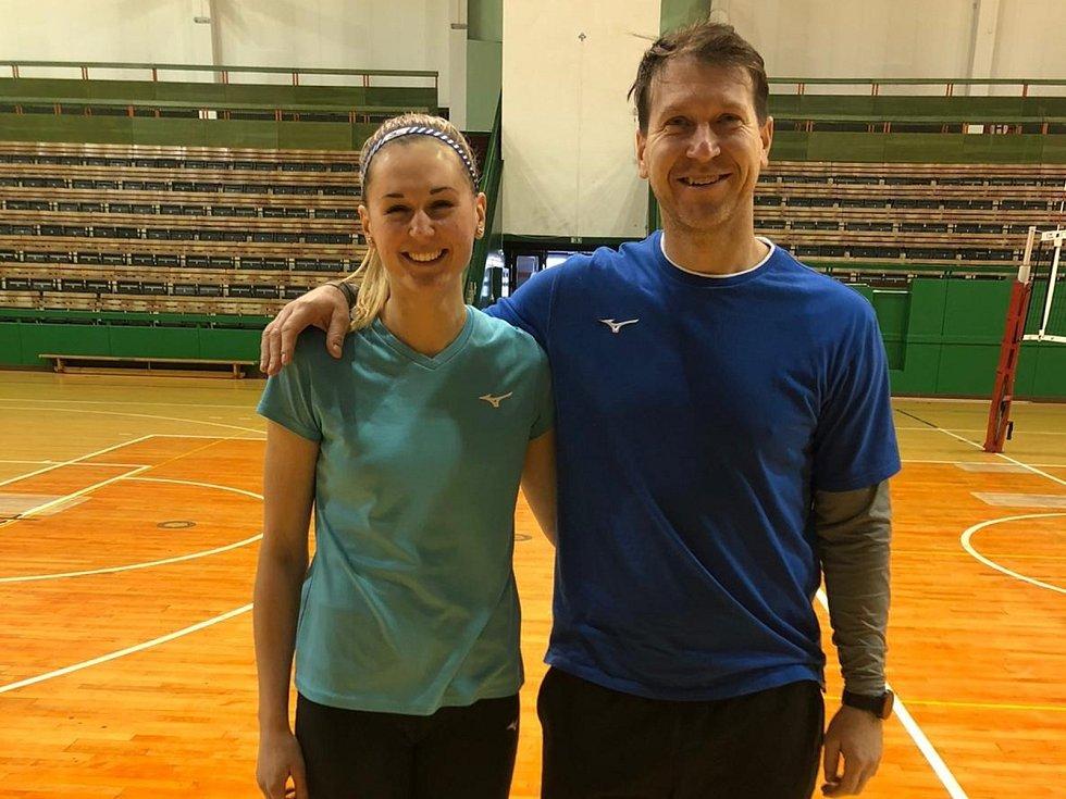 Lucie Nová s Petrem Zapletalem