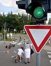 První semafor na dopravním hřišti u plaveckého stadionu v Olomouci