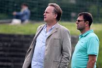 Dočasný šéf Sigmy Jaromír Gajda (vlevo) a bývalý většinový vlastník klubu Josef Lébr na archivním snímku z roku 2013