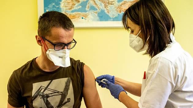 Očkování proti nemoci  Covid-19 ve fakultní nemocnici v Ostravě - 29. prosince 2020
