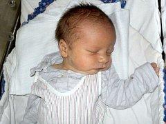 Matyáš Vymlátil, Štěpánov, narozen 4. prosince ve Šternberku, míra 49 cm, váha 3610 g