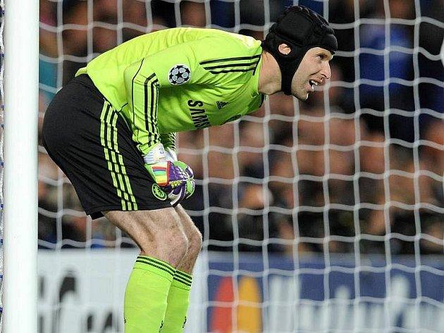 Petr Čech v bráně FC Chelsea