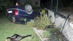 Nehoda opilého řidiče octavie v Zábřehu